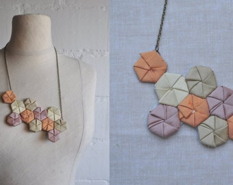 Honey Comb Origami Necklace