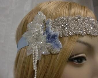 Flapper Headband, Rhinestone and Crystal Headpiece, Hair Accessory,  for Prom or Wedding