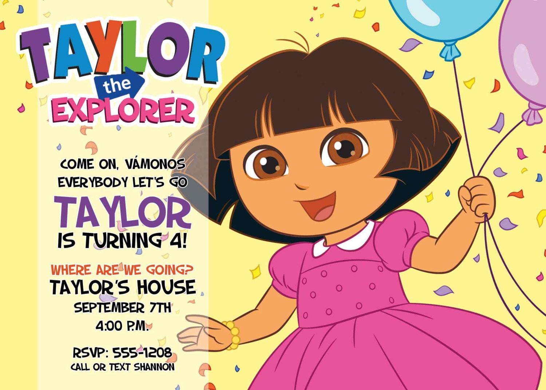 Dora The Explorer Invitations for great invitation design