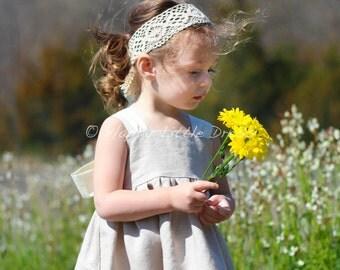 Rustic Flower Girl Headband.