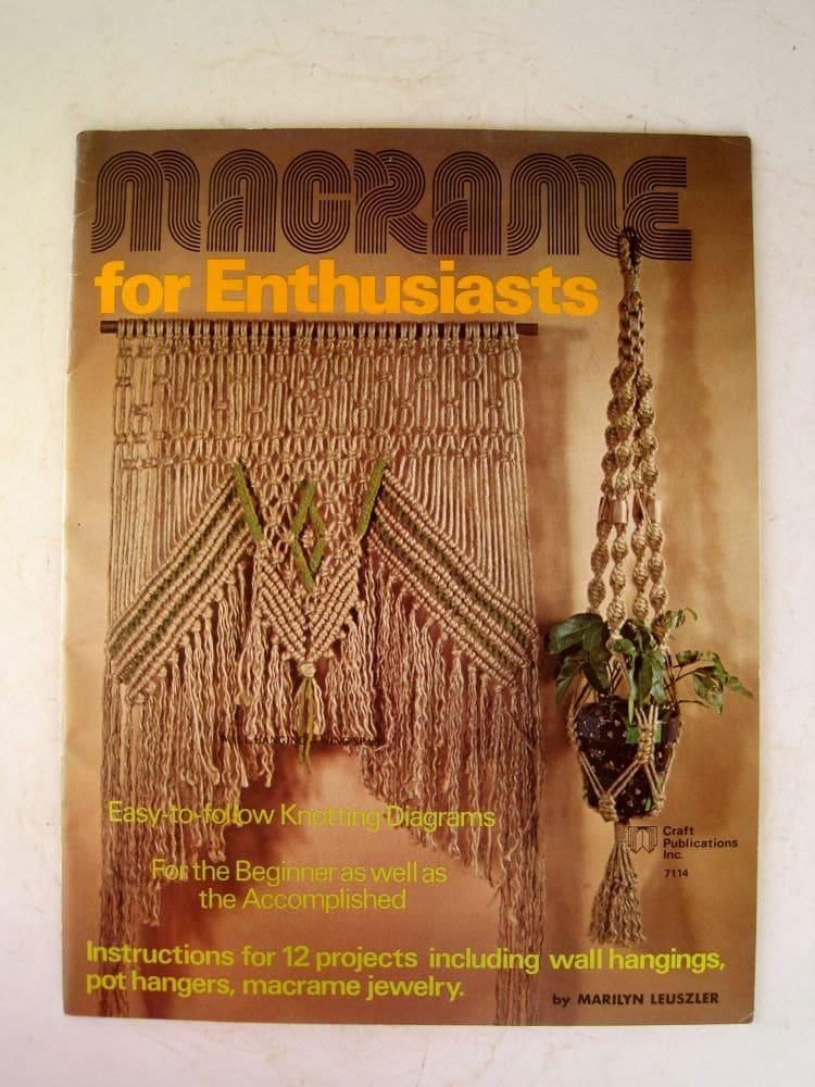 Macrame Home Decor Pattern Book Macrame Household Item
