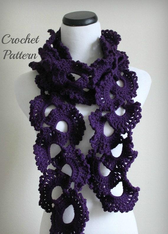CROCHET PATTERN Queen Annes Lace Scarf Pattern by OnTheHook