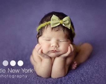 Newborn halo with bow, newborn photo prop, newborn girl, newborn girl headband, newborn girl halo, newborn headband. 8 bows to choose from