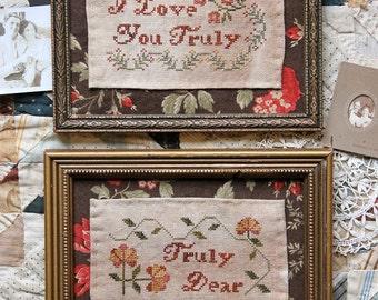 I Love You Truly (Truly Dear) : Cross Stitch Pattern by Heartstring Samplery