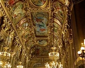 Opera House Ceiling in Paris, France Art Note Card by Trish Vernazza