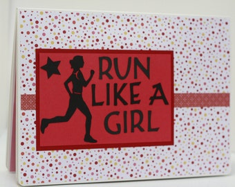 Runner's Race Bib Book - RUN LIKE A GIRL