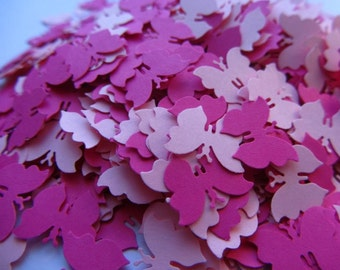 Paper butterfly confetti small pink die cut butterflies wedding table confetti pink wedding confetti pink baby shower butterfly confetti