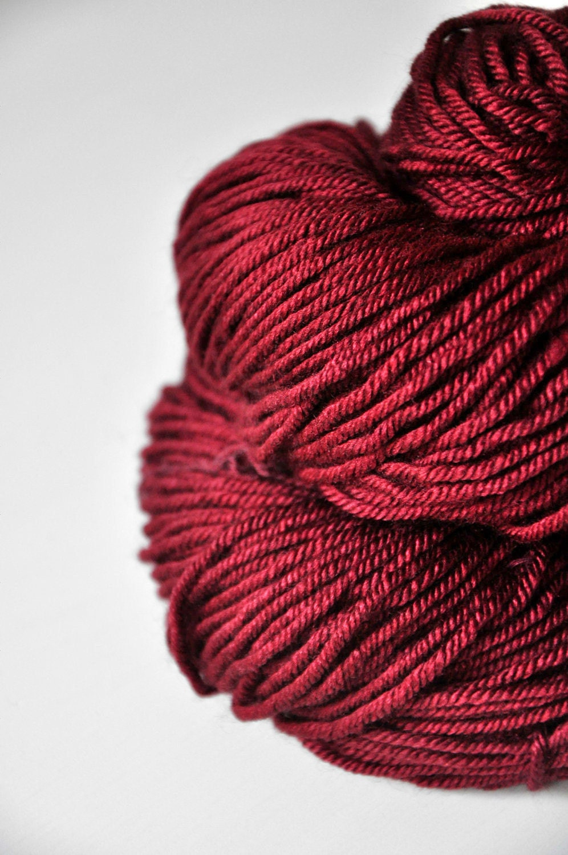 Silk Yarn : Poisoned blood Silk/Merino DK Yarn superwash by DyeForYarn
