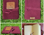 Wine Suede Travel Journal (Custom)