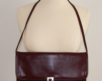 SALE Oxblood Purse with Removable Strap