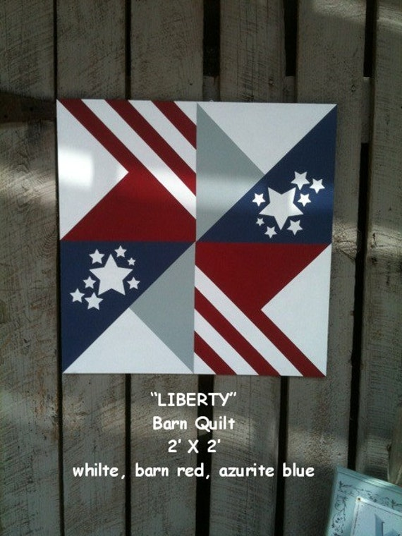 Items Similar To Barn Quilt Liberty Pattern On Etsy