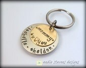 Customized Keychain - Personalized Hand Stamped Keychain - Grandma Mother Unisex gift - Children's Names