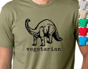 Vegetarian dinosaur  Funny T-shirt humor tee