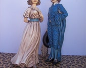 Fabulous Holland Mold Midcentury Pinky and Blue Boy Figurines