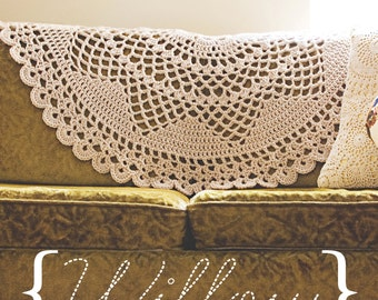 PATTERN: WILLOW- Crochet Doily Blanket