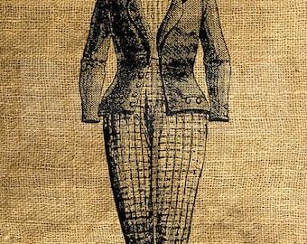 INSTANT DOWNLOAD - Suit Vintage Illustration - Download and Print - Image Transfer - Digital Sheet by Room29 - Sheet no. 976