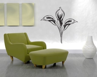 Vinyl Wall Decal Sticker Calla Lilies 1073m