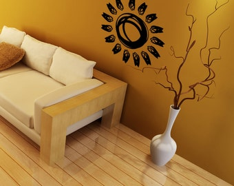 Vinyl Wall Decal Sticker Sun Drawing 1085m