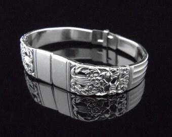 Spoon Bracelet - Silverware Jewelry - Coronation - MEDIUM fits 6-7 inch wrist