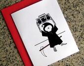 cute grim reaper true love never dies say anything valentines / notecards (blank or custom inside) with envelopes - set of 10