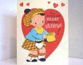Vintage Scotch Boy Kilt Valentine Card Reproduction