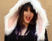 Oversized XL Furry Bunny Rabbit EARS - Snow White - Kawaii - Burning Man - Cosplay - Rave - Halloween - EDM