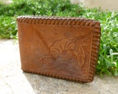 Broken in Tooled Leather Wallet