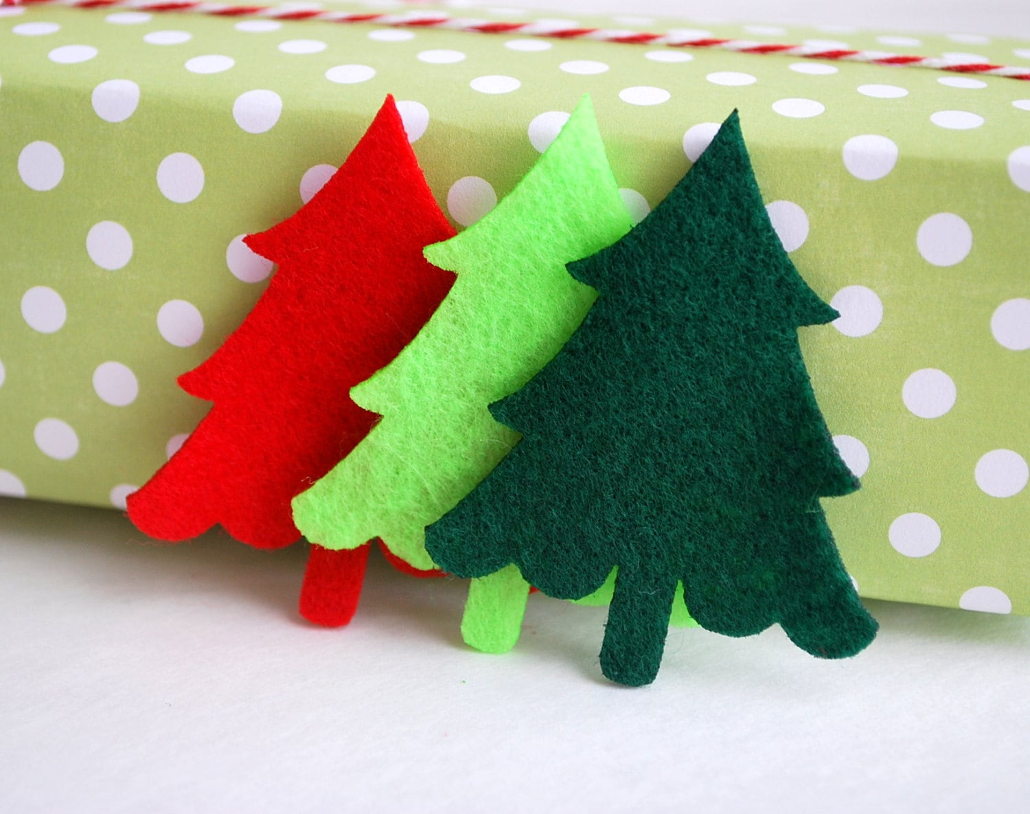 24 Felt Trees Die Cut 24 Christmas Tree Die Cut 2.5