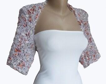Knit Multicolor Bridal Bolero Shrug Sleeves Wrap, Wedding Bolero, Weddings Bridal Bridesmaid Women For her, Cover up, Jacket
