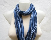 Scarf infinity Loop Necklace Circle Scarf Blue women Scarf