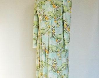Vintage Floral Maxi Dress Spring Princess Womens Size Medium