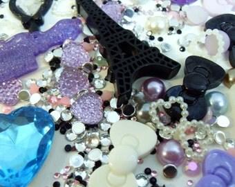 FREE UK SHIPPING Cell Phone Bling Destash Purple Blue Sparkly Set