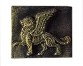 Winged Lion Stone Sculpture Wall Plaque, Venice Lion, Italy St Mark Lion, Venice Art, Italian Home Decor Gift for Him