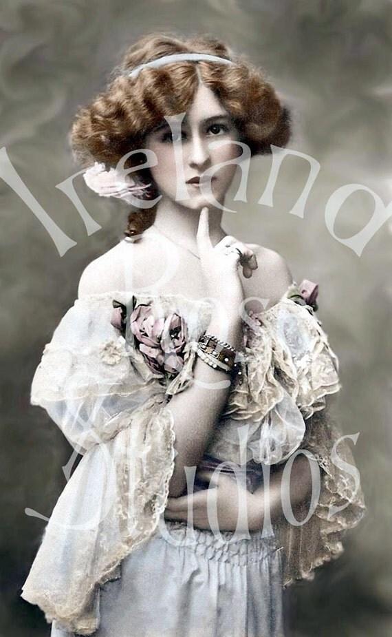 Opal-Victorian/Edwardian Woman-Digital Image Download