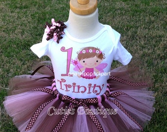 Fairytale Princess Outfit Set With Personalized Shirt -- All Sizes 6 9 12 18 24 Months 2T 3T4T -- Birthday, Photo, Holidays