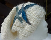 Patchwork Hat-Upcycled Hat -Handmade Wool Women Hat - Recycled Upcycled Hand Knited Hat