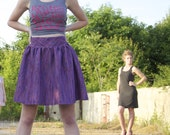 SALE- High Waisted Purple Party Skirt- the Weekender Skirt - CLEARANCE