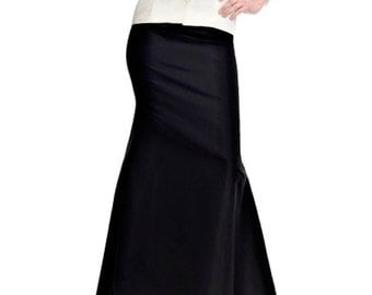 Floor length black maxi skirt, Mermaid silhouette high quality tailor made, High fashion ,plus size