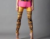 Orange Tribe leggings