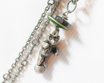 Little Bear on Ball Charm Necklace Women Jewelry Teen Girl Jewelry Gift Tween Girl Jewelry