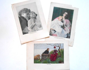 1909 Book Illustrations, Life Knowledge, Women, Mothers