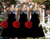 Items similar to Two-Tone Zebra Bridesmaid Dresses on Etsy