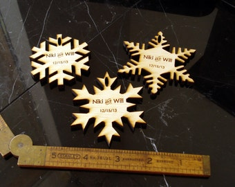 65 Snowflake Wedding Favors Winter Wedding Winter Wonderland