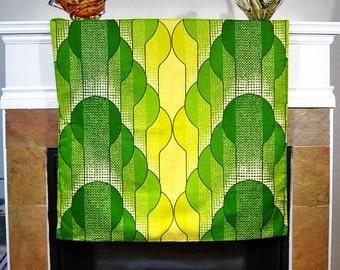 Vintage 60s 70s Panton Era Wave Fabric Wall Hanging
