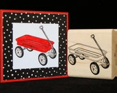 wagon rubber stamp