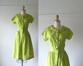 SALE vintage 1950s sun dress / 50 dress / Strawberry Patch