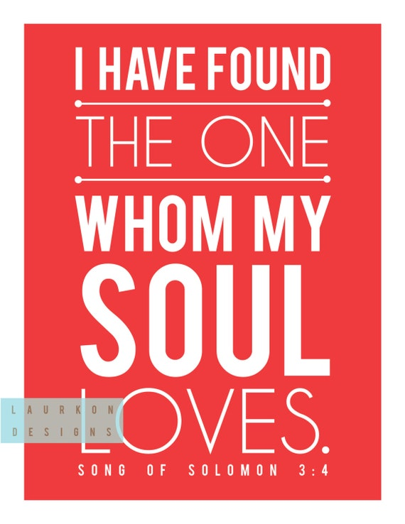 Items Similar To Printable I Have Found The One Whom My