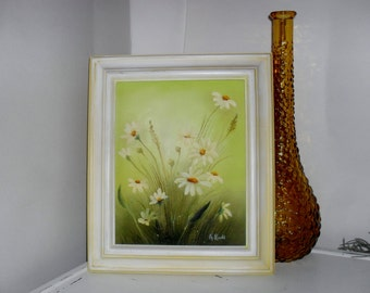 Fresh Spring Daisy---Original Vintage Acrylic Painting By  A. RUDD ---Signed By Artist
