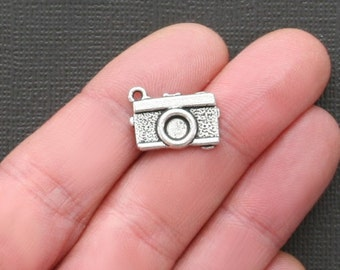 6 Camera Charms Antique  Silver Tone - SC2158