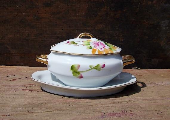 Mayonnaise Sauce Dish Serving Bowl Lefton Vintage China Gravy Boat Tiny Miniature Soup Tureen Covered Sugar Bowl Dainty Porcelain